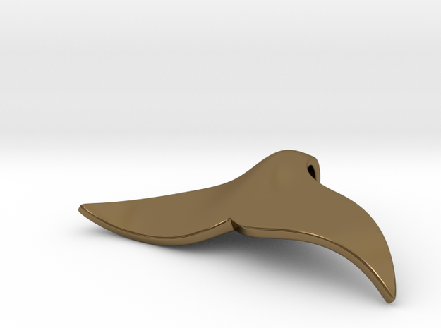 """Whale tail"" pendant (Silver, Brass, Bronze) 3d printed"