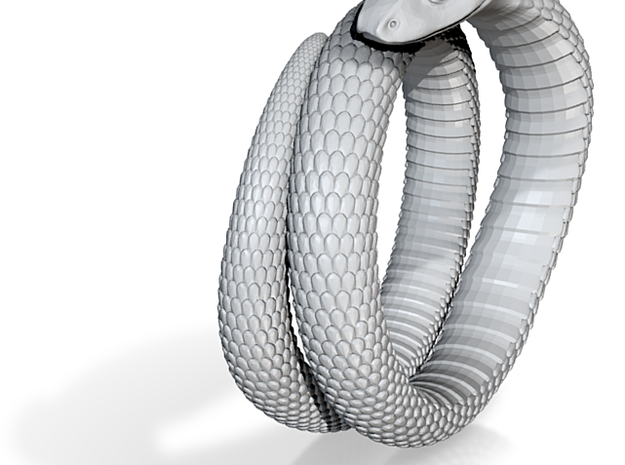 Snake Ring (US Size 7.5) 3d printed