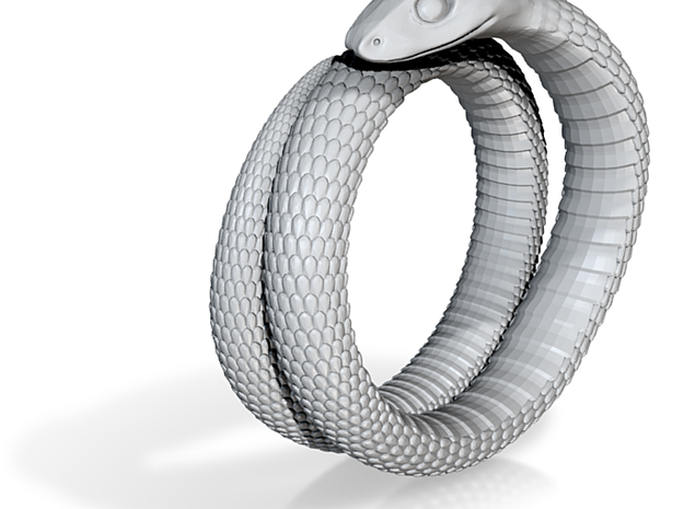 Snake Ring (Size US 8) 3d printed