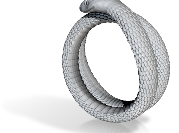 Snake Ring (Size US 15) 3d printed