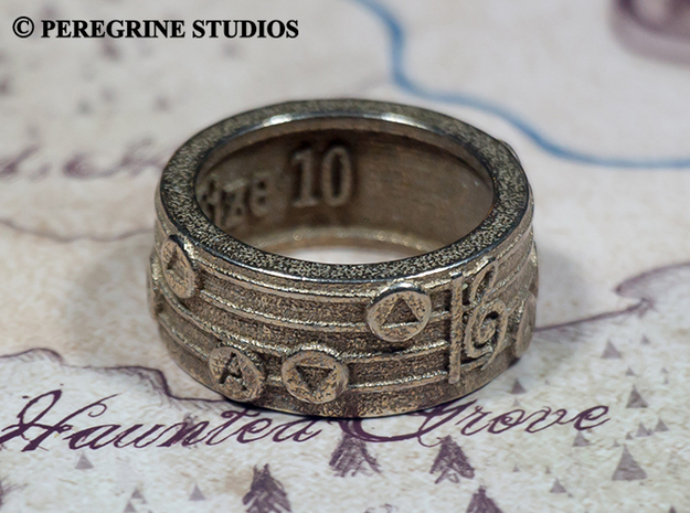 Ring - Song of Storms (Size 11) 3d printed Stainless Steel