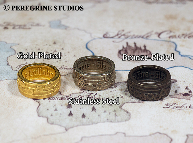 Ring - Song of Storms (Size 11) 3d printed
