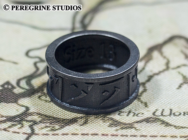 Ring - Forever (Size 11) 3d printed Matte Black Steel