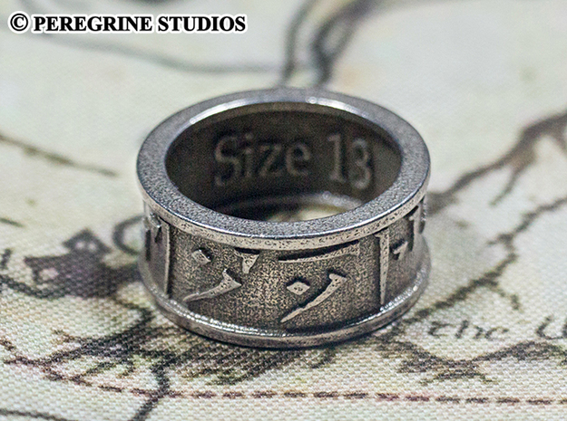Ring - Forever (Size 6) 3d printed Stainless Steel