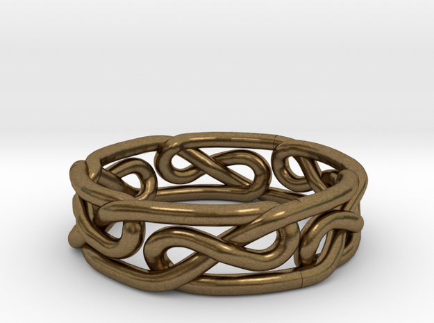 Celtic Infinity Knot Ring Size 8.5 3d printed