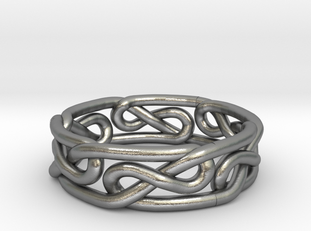Celtic Infinity Knot Ring Size 8 3d printed