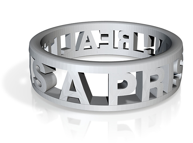 Reality Ring (US Size 7) 3d printed