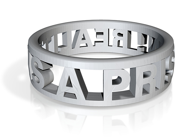 Reality Ring (US Size 8) 3d printed