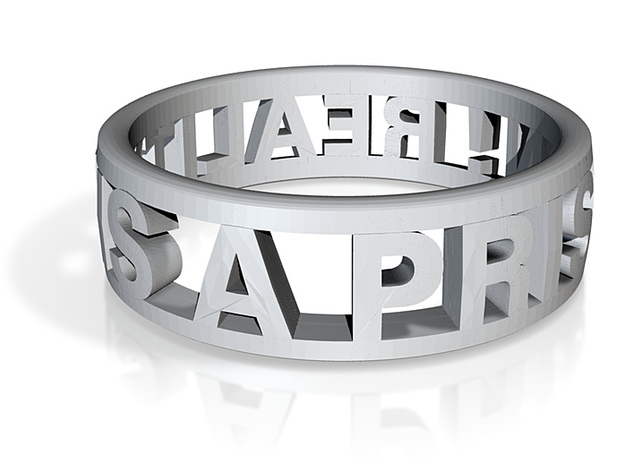Reality Ring (US Size 10) 3d printed