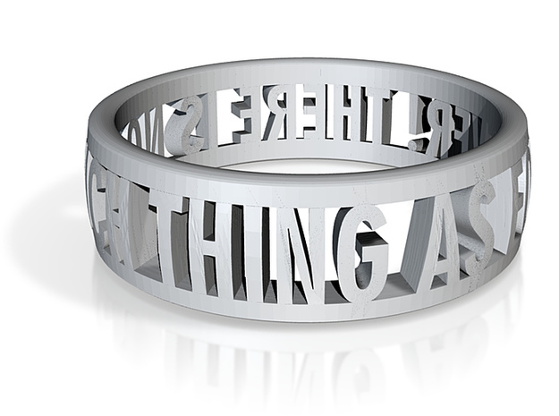 No Such Thing Ring (US Size 11) 3d printed