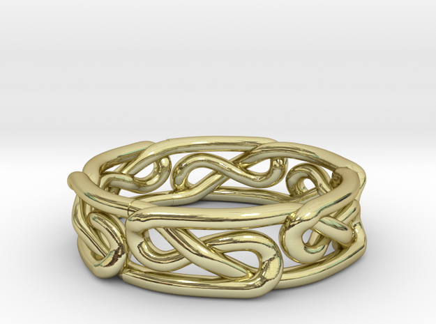 Celtic Infinity Knot Ring Size 5 3d printed