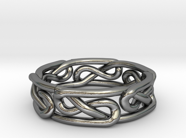 Celtic Infinity Knot Ring Size 7 3d printed