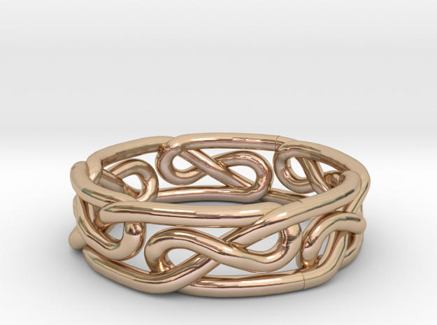 Celtic Infinity Knot Ring Size 9 3d printed