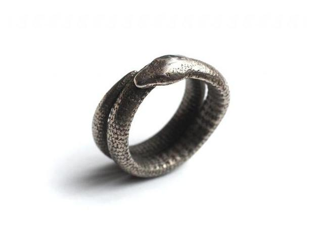 Snake Ring (Size US 11) old 3d printed