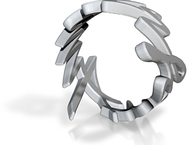 Amour Fou Ring (US Size 8) 3d printed