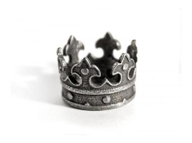 Crown Ring (US Size 4) 3d printed