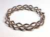 Helix Weave Bracelet (60mm) 3d printed in stainless steel
