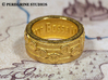 Ring - New Wave Bossa Nova (Size 8) 3d printed Gold Plated Glossy