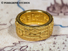 Ring - Zelda's Lullaby (Size 6) 3d printed Gold Plated Glossy