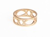 Deco Ring : size 8 3d printed Raw Bronze