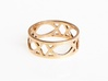 Deco Ring : size 8.5 3d printed Polished Bronze
