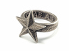 Star Ring (US Size 12) 3d printed Stainless Steel