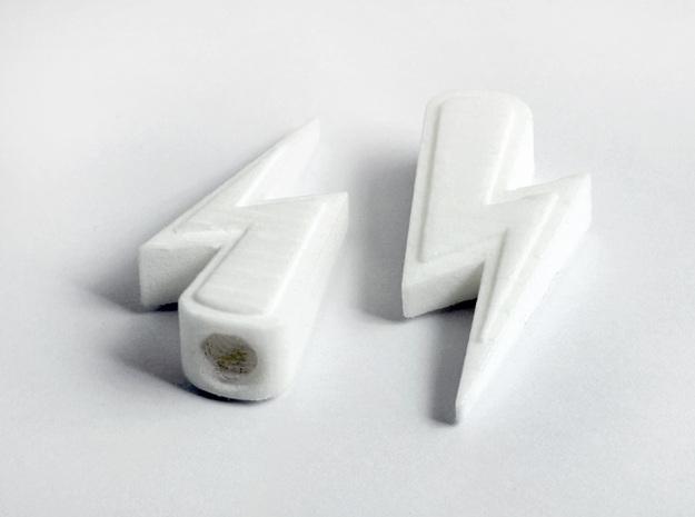 Lightning Valve Caps Presta 3d printed White Strong & Flexible