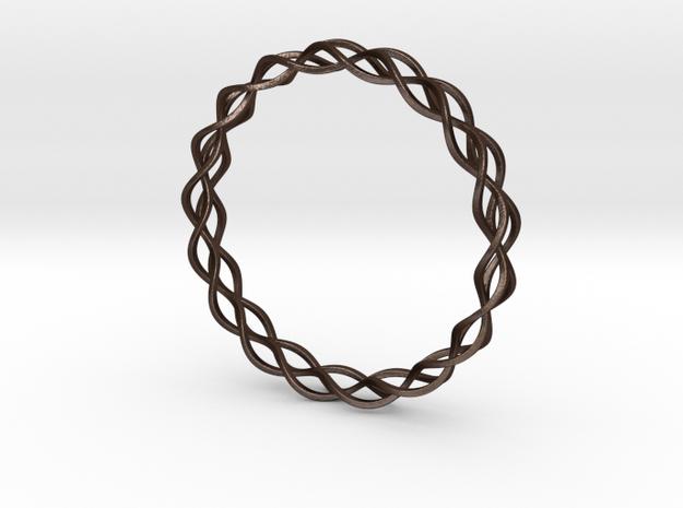 Helix Weave Bracelet (70mm) 3d printed