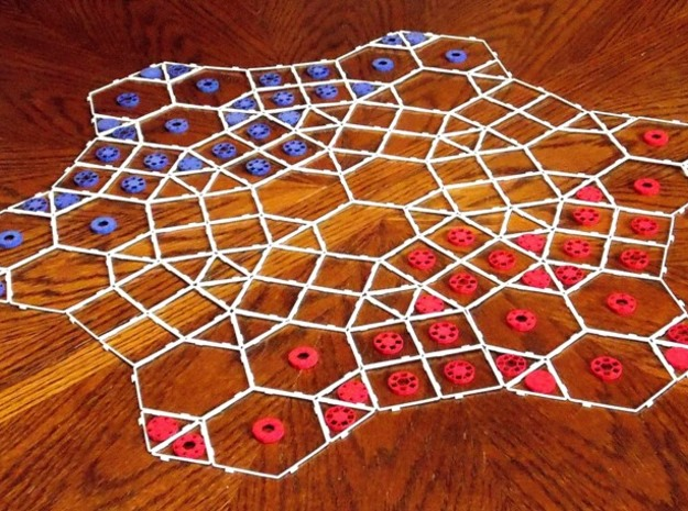 Tess Polygon Module 3d printed 'Prursu-ukun' setup (also requires a Tess Disc Module for each of the two players)