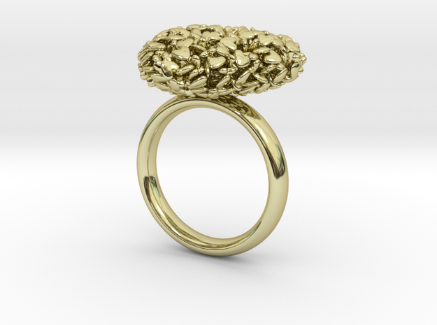 365 Hearts Ring - US Size 5 3d printed