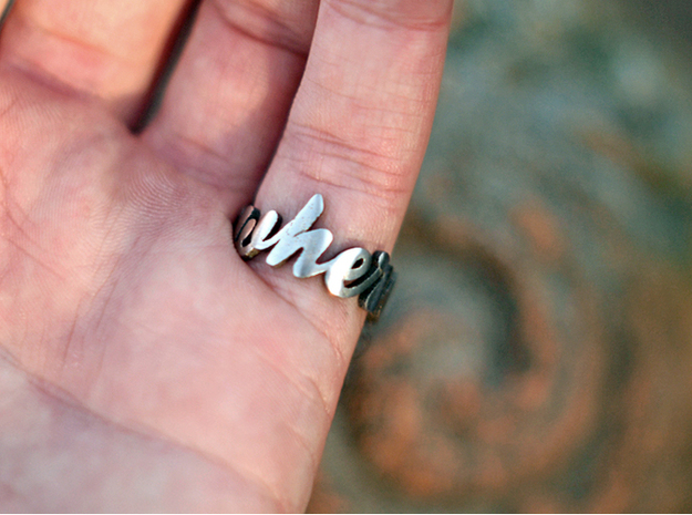 Somewhere Ring (Size US 9) 3d printed Stainless Steel (polished)