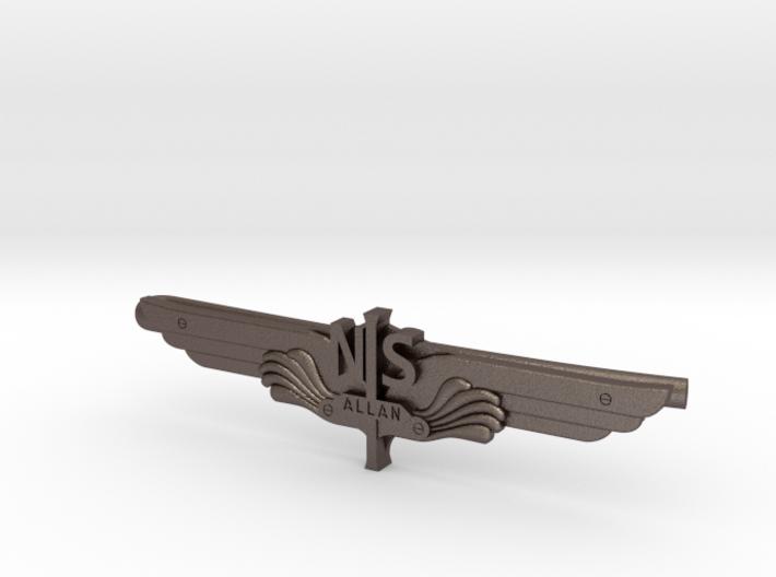 Allan Vleugel - Tie Clip (Stainless Steel) 3d printed