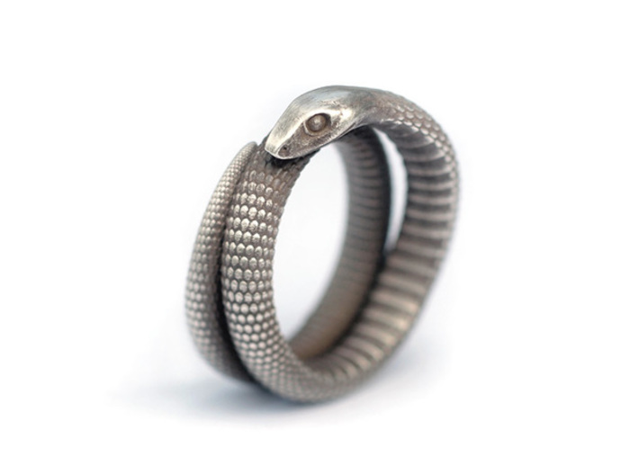 Snake Ring (Size US 7) 3d printed