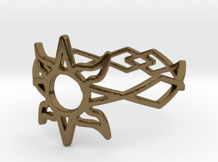 Solar Flare Ring (Size 10) 3d printed