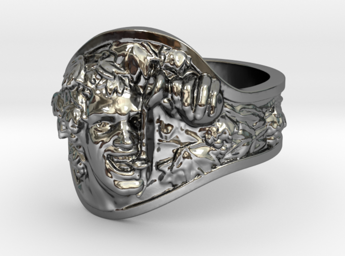 Vice Bachus Ring Size 8 3d printed