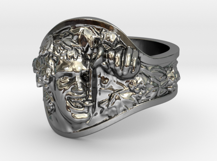 Vice|Bachus Ring Size 7 3d printed