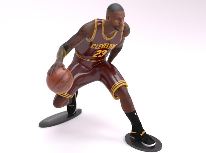LeBron James 1/8 Dribble Figure 3d printed
