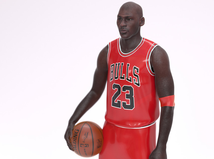 Michael Jordan 1/8 Standing Figure 3d printed