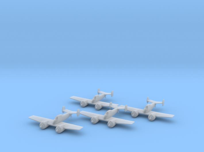 Grumman XF5F Skyrocket 1:200 x4 FUD 3d printed