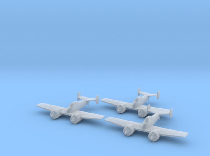 Grumman XF5F Skyrocket 1:285 x3 3d printed