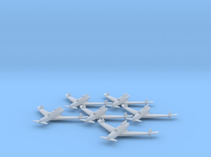 Curtiss XP-55 'Ascender' 1:285 x6 FUD 3d printed