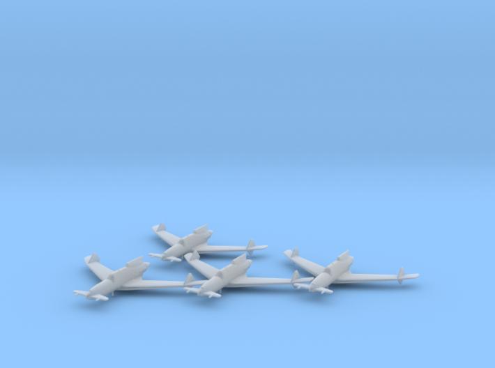 Curtiss XP-55 'Ascender' 1:200 x4 FUD 3d printed