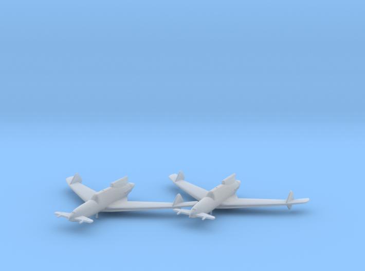 Curtiss XP-55 'Ascender' 1:200 x2 FUD 3d printed