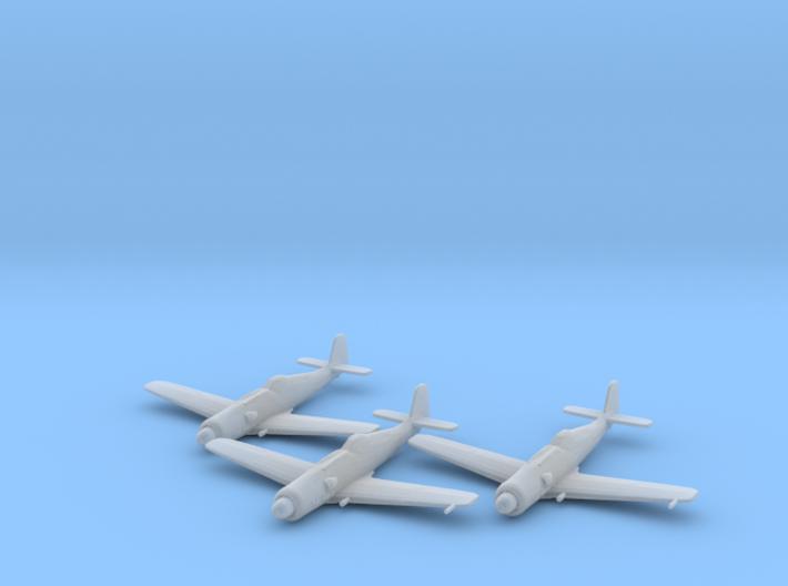 Focke Wulf Ta.152C 1:200 x3 FUD 3d printed