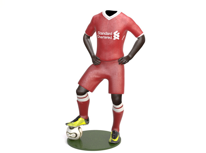 Liverpool 1/8 Standing Figure Black 3d printed