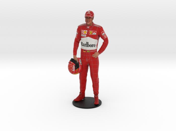 Michael Schumacher 1/8 Standing Figure 3d printed