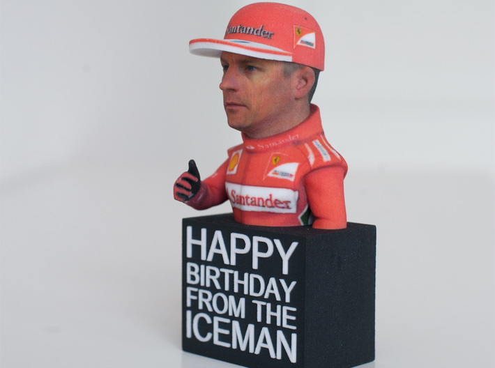 Happy Birthday from The Iceman Figure 3d printed