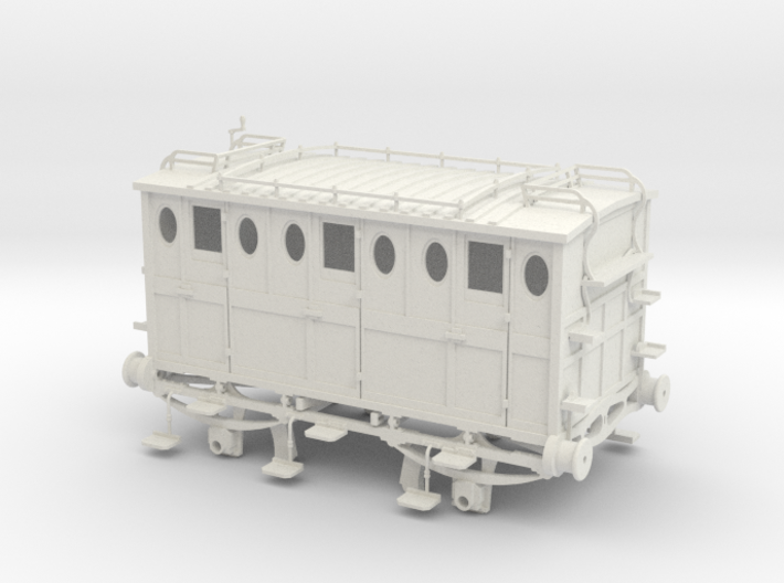 Brees L&BR 2nd class carriage 3d printed