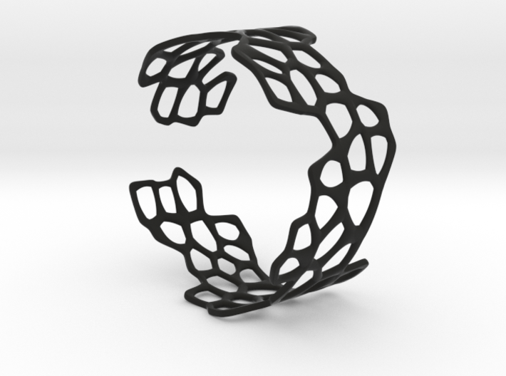 Cells Bracelet (open, 60mm) 3d printed