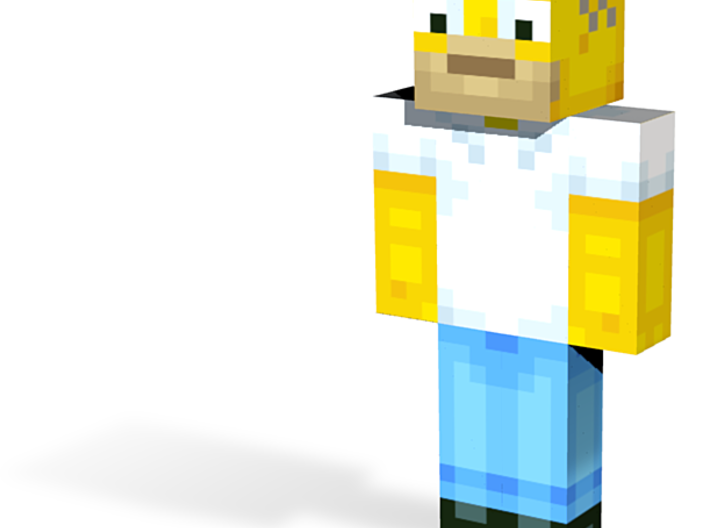Yellow dad | Minecraft toy 3d printed